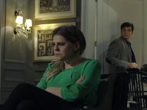Edith diz a Félix que sabe onde ele estava (Foto: Amor à Vida/TV Globo)