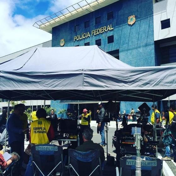 Parte das cenas de Polícia Federal-  alei é para todos, foram rodadas na sede da PF, em Curitiba (Foto: Divulgação)