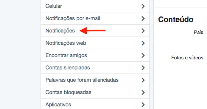 Caminho para acessar as opções para filtro de qualidade do Twitter (Foto: Reprodução/Marvin Costa)