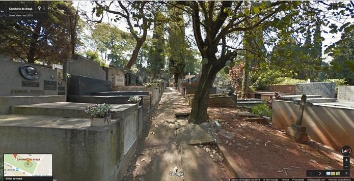 Cemitério do Araça tem uma área de mais de 200 mil m² (Foto: Reprodução/Gabriel Ribeiro)