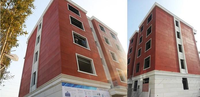 Edifício com cinco andares tem detalhes internos e externos (Foto: Divulgação/WinSun)