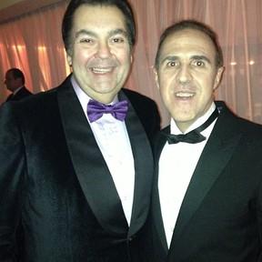 Fausto Silva com o empresário Wagner Ribeiro (Foto: Instagram/ Reprodução)