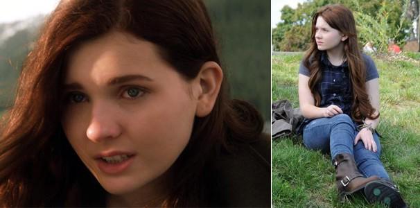 Mais recentemente, a atriz em 'Ender's Game: O Jogo do Exterminador' (2013) e 'A Caminho da Felicidade' (2010) (Foto: Divulgação/Reprodução)