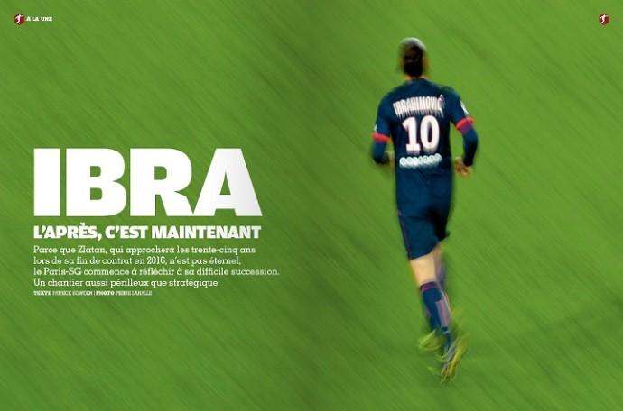 Página da France Football questiona quem vai ser o craque do Paris Saint-Germain após saída de Ibrahimovic