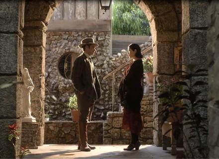 Delfina e Fernão discutem em 'Tempo de Amar'