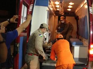 Foragido ferido foi levado ao Pronto Socorro (Foto: Marcelo Marques/ G1 RR)