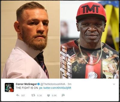 tweet Conor McGregor Floyd Mayweather Sr. (Foto: Reprodução/Twitter)