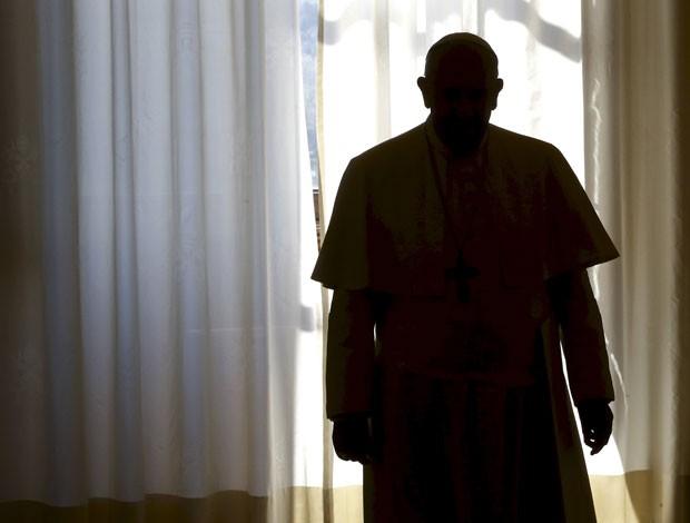 O Papa Francisco durante uma audiência com o presidente da Geórgia em abril de 2015 (Foto: Tony Gentile/Reuters)