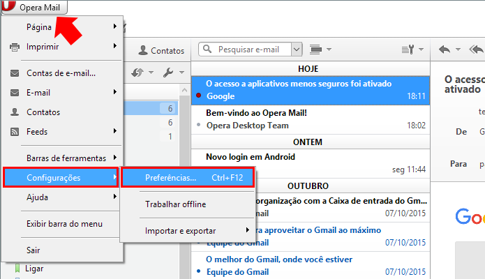 Abra as preferências do programa (Foto: Reprodução/Paulo Alves)