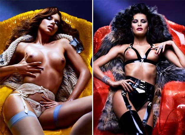 As fotos de Adriana Lima e Isabeli Fontana para a V Magazine, cujas versões sem censura acabam de ganhar a rede (Foto: Reprodução)