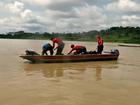 Bombeiros do AC resgatam corpo de indígena que se afogou em rio
