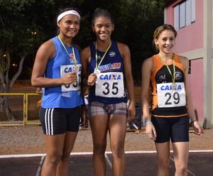 Da esquerda para direita: Emily Souza, Elizandra Dantas e Camila Lima (Foto: Nailson Wapichana/GloboEsporte.com)