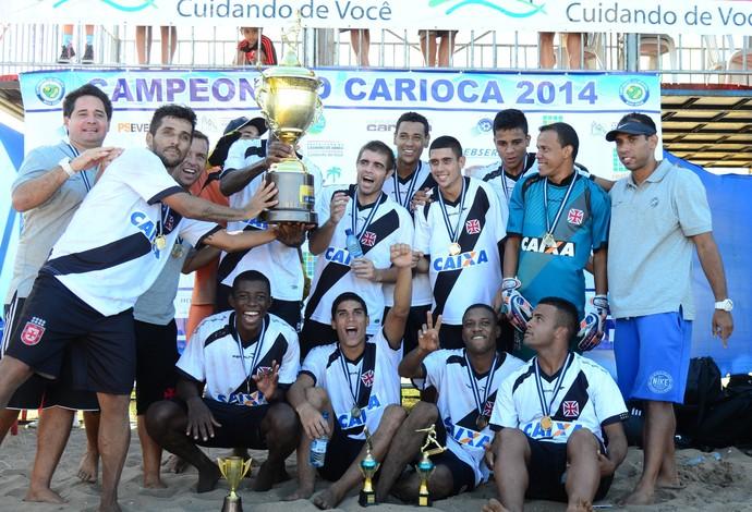 Vasco campeão carioca futebol de areia (Foto: Thiago Ribeiro/Divulgação)