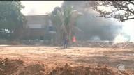 Incêndio em terreno da UFPI atinge setor de esportes
