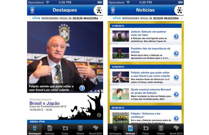 App Seleção (Foto: Reprodução/iTunes)