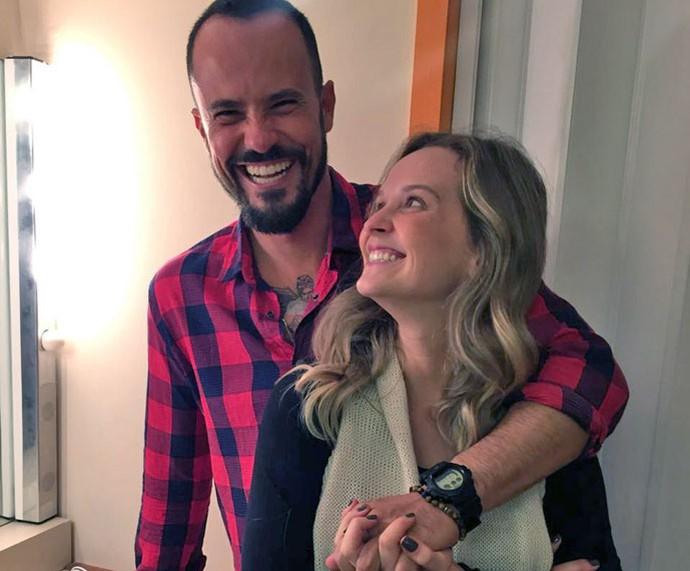 Paulinho Vilhena com a amiga e parceira de peça, Fernanda Rodrigues (Foto: Arquivo pessoal)