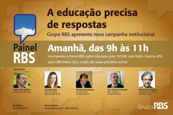 Painel RBS debate a Educação (Foto: Divulgação, RBS TV)