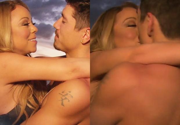Mariah Carey troca beijos com Bryan Tanaka em cenas de reality
