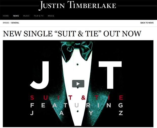 Justin Timberlake anunciou, neste domingo (13) em seu site oficial, um novo single  (Foto: Reprodução/Justintimberlake.com)