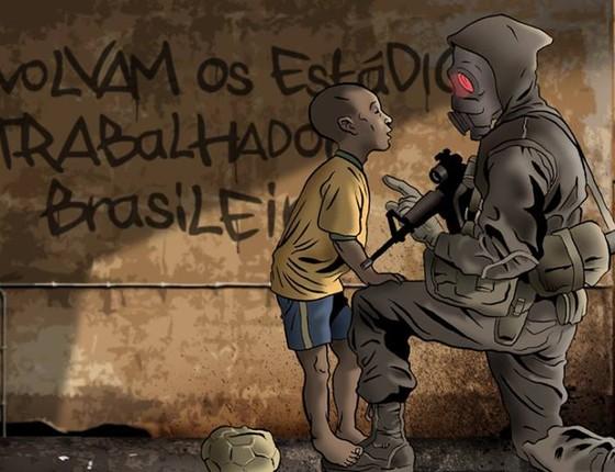 O Doutrinador, história em quadrinhos produzida por Luciano Coutinho (Foto: Reprodução)