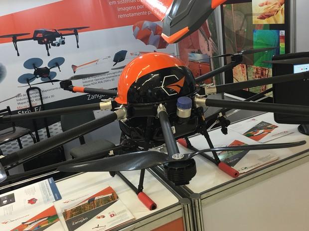 Drone Pelicano, da SkyDrone. (Foto: G1)
