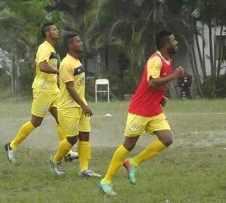 Jucilei treino São Gonçalo (Foto: Divulgação)