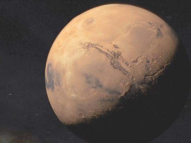 Fantástico mostra preparativos para primeira missão tripulada para Marte (Foto: Rede Globo)