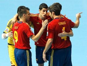 Espanha futsal comemoração Mundial (Foto: Reuters)