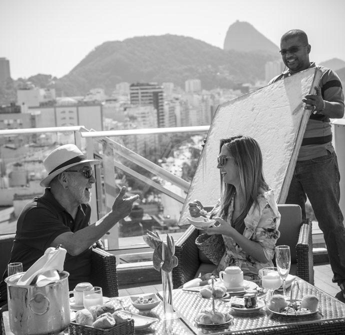 Lima Duarte e Tatá Werneck mostram cumplicidade em cena (Foto: Raphael Dias/Gshow)