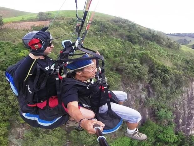 Matake Terany voou pela primeira vez no Espírito Santo (Foto: Matake Terany/ Arquivo Pessoal)