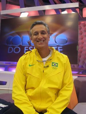 Marcus Vinicius Freire no Corujão do Esporte (Foto: Divulgação / TV Globo)