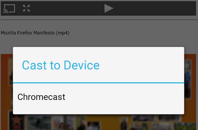 Firefox para Android ganha suporte ao Chromecast (Foto: Reprodução/Lucas Rocha)