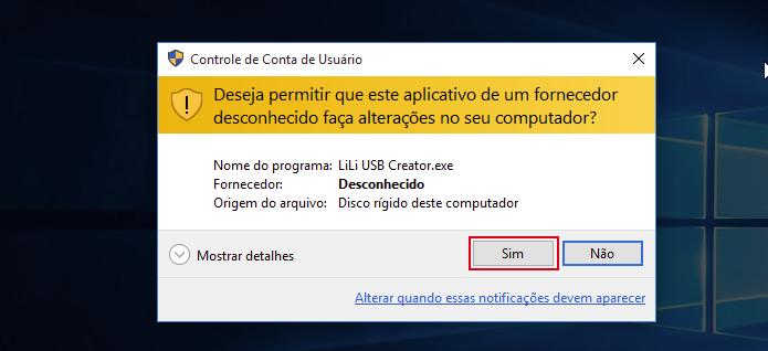 Autorizando a execução do LinuxLive USB Creator no Windows (Foto: Reprodução/Edivaldo Brito)