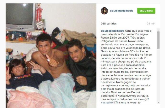 Claudinha Gadelha Formiga Renan Barão (Foto: Reprodução/Instagram)