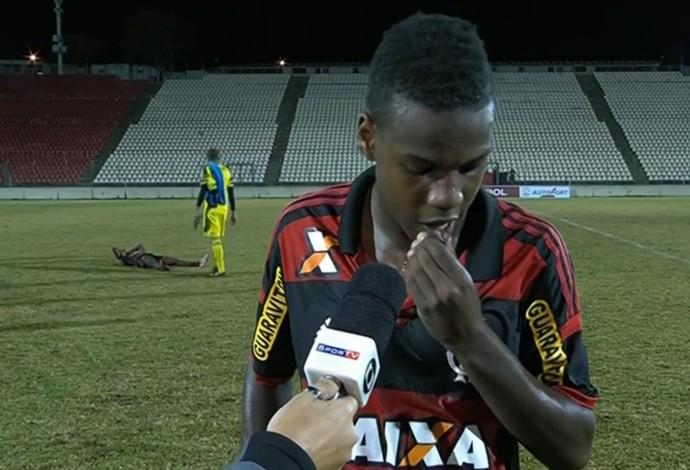 Antônio Carlos Flamengo SporTV Taça BH sub-17 (Foto: Reprodução SporTV)