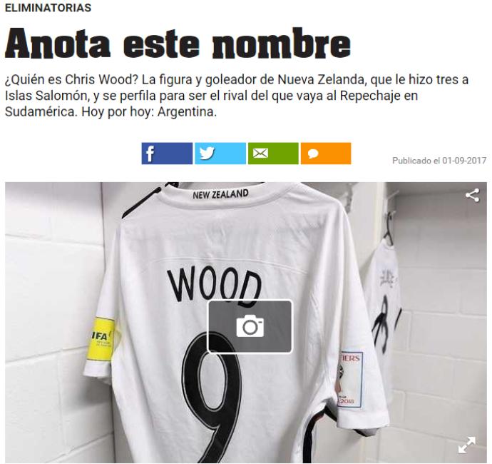 BLOG: Argentina: jornal destaca Chris Wood, possível adversário na repescagem