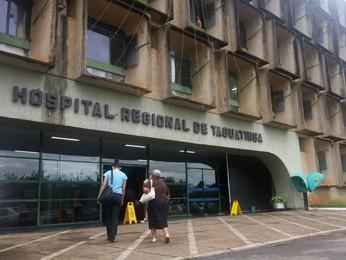 Fachada do Hospital Regional de Taguatinga (Foto: Raquel Morais/G1)