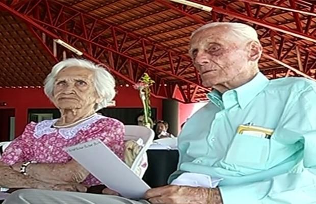 Francisco de Assim Gouveia teve 6 filhos, 20 netos e 10 bisnetos, em Goiás (Foto: Reprodução / TV Anhanguera)