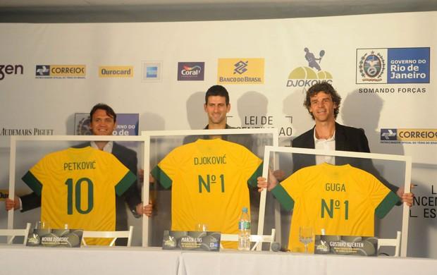 Novak Djokovic tênis  petkovic guga (Foto: André Durão/Globoesporte.com)