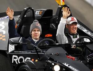 Sebastian Vettel Michael Schumacher Corrida dos Campeões Copa das Nações (Foto: Divulgação/ROC)