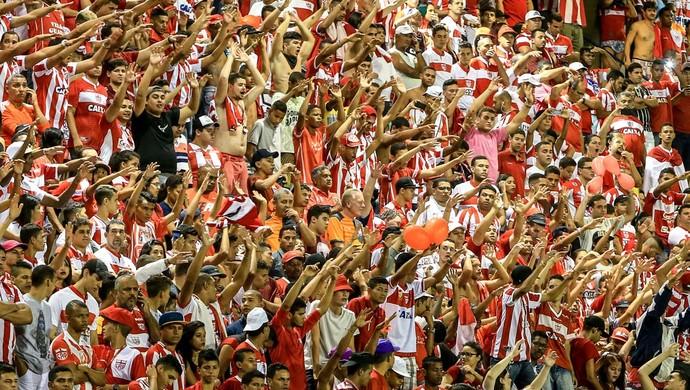 Torcida CRB CRB x Tupi Rei Pelé (Foto: Ailton Cruz/Gazeta de Alagoas)