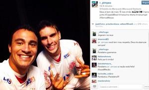 Rodrigo Pimpão e Alfredo, atacantes do América-RN instagram (Foto: Reprodução/Instagram)