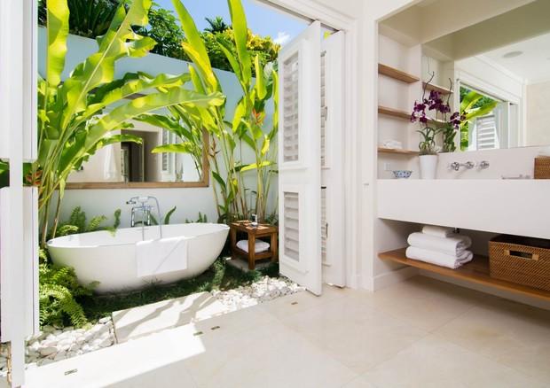 Um dos banheiros da villa (Foto: Divulgação)