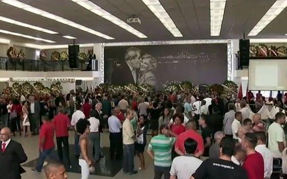 Velório de Marisa Letícia em São Bernardo do Campo (Foto: Reprodução/TV)