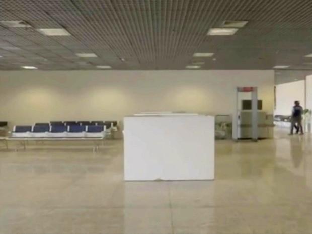 Reforma do setor de embarque internacional do aeroporto Marechal Rondon em MT foi finalizado (Foto: Reprodução/TVCA)