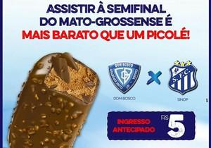 Dom Bosco, promoção ingressos, Mato-grossense (Foto: Dom Bosco/Divulgação)