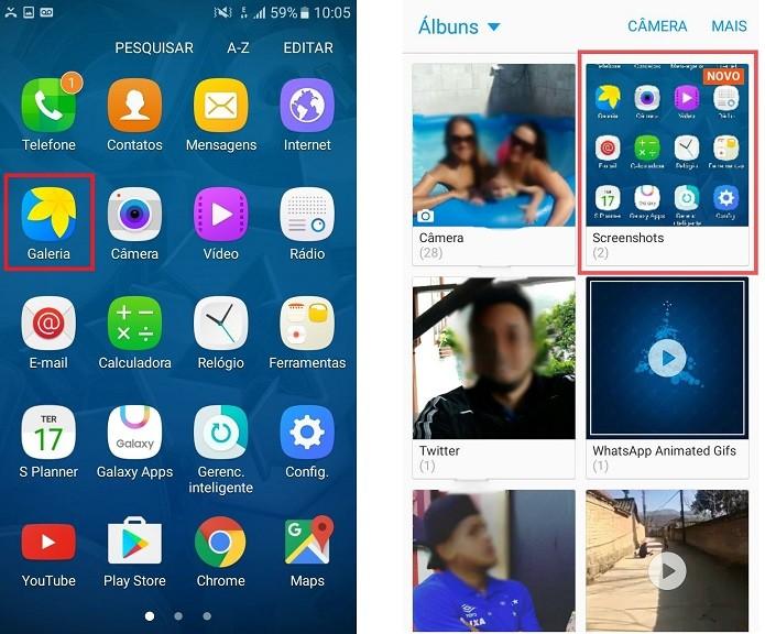 A captura da tela é salva automaticamente na galeria do Galaxy J5 (Foto: Reprodução/Lívia Dâmaso)