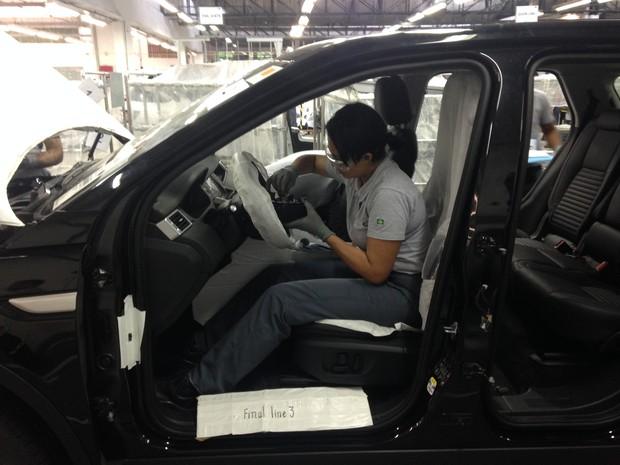 Centro de treinamento da Jaguar Land Rover, em Itatiaia (RJ) (Foto: André Paixão/G1)