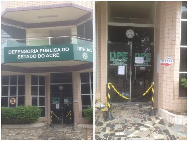 Prédio foi atingido por quatro disparos (Foto: Cassiu Afonso/ Rede Amazônica Acre)