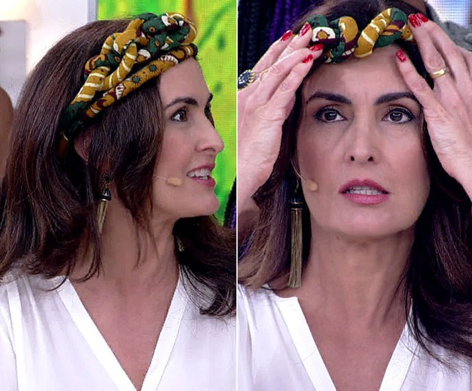 Turbante tiara: Fátima aprende a fazer visual afro  (Foto: TV Globo)